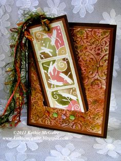 The Happy Room: Cloisonne Panel Bookmark and Card
