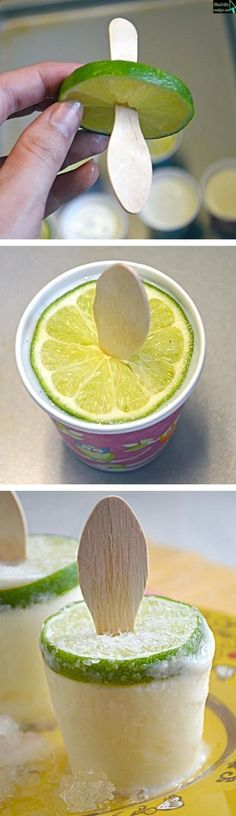 Creamy Margarita Popsicles