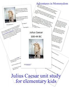 just read over it... don't throw the baby out with the bathwater Julius Caesar unit for elementary kids
