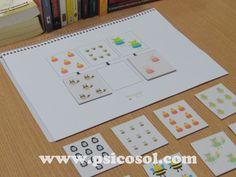 Agrupe os iguais. Arquivo em PDF para este jogo disponível na loja do site Psicosol