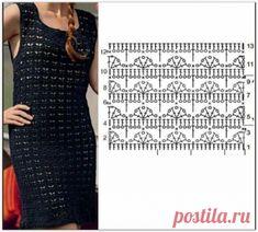 Crochet Summer Dresses, Crochet Skirts, Crochet Clothes, Crochet Jumper, Crochet Blouse, Chunky Knitting Patterns, Crochet Stitches Patterns, Crochet Diagram, Crochet Chart