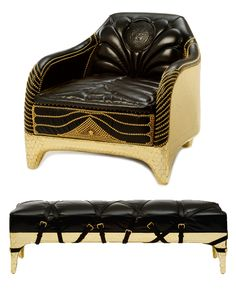 New pieces from Versace Home's collaboration with the Haas Brothers