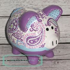 Alphadorable: Custom piggy bank to coordinate with the Brooklyn ...