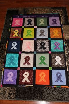 Memory Quilts Photo Gallery Colon Cancer Dedication To