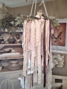 Rustic Wedding Decor Vintage Lace by DenaDanielleDesigns on Etsy, $98.00