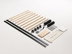 Therack comes disassembled and is available in black or white.