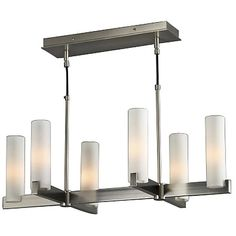 """Elf 9 Linear Chandelier by Illuminating Experiences at Lumens.com   Fixture: Height 14"""", Overall Height 60"""", Width 18"""", Length 32""""   $560"""