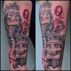 Image Result For King And Queen Skull Tattoos Tattoos Pinterest