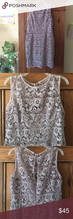 Lace Dress Light dusty brown color lace dress. Sleeveless, and in perfect condition with tags still on. Perfect mother of the bride dress, or formal event dress. Feel free to ask me a question! Dress Barn Dresses Wedding