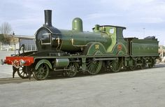Destined for the Swanage Railway, National Collection LSWR 'T3' No. 563 stands in the North Yard at the National Railway Museum. NRM