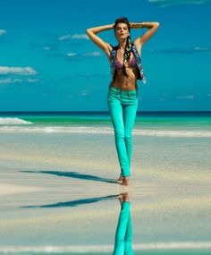 Jeans the color of the sea...Matthew Williamson for H