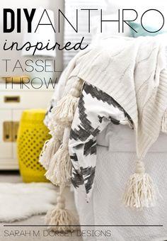 DIY: Anthro Inspired Tassel Throw