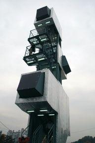 MISFIT TOWER, 2008  Vertical Meeting-point. Anyang, South Korea.