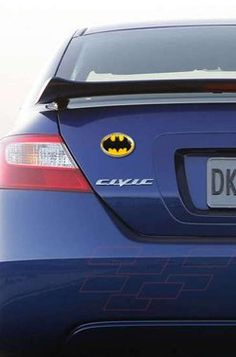 Teen Gifts for the New Driver:  Batman Yellow Metal Car / Truck / SUV Auto Emblem @ Amazon