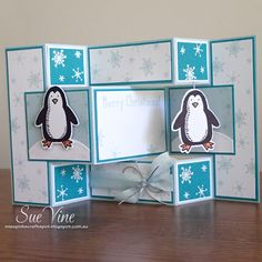 Miss Pinks Craft Spot: Snow Place - Tri Fold Shutter Card