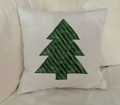 Pillow Perfect Christmas Forest Scene Embroidered with Silver Welt Cord Lumbar Decorative Pillow Gray 12 x 18 White