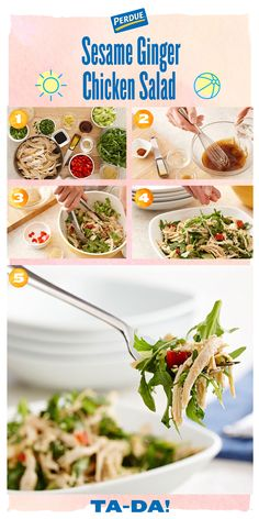 This recipe is a fan favorite because it is tasty AND versatile.   Great for lunch, dinner or as a side dish!   Try our PERDUE® Sesame Ginger Chicken Salad recipe at perdue.com