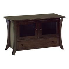 45 1 2 Inch TV Unit With Solid Wood Raised Panel Doors And Drawers