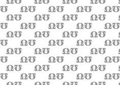 Blackoak, Jay Redick, 1990. Pattern 2 B/N. Incisivo. Ho usato l'omega e la O minuscola per la spigolosità delle grazie.