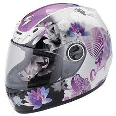 Scorpion EXO-400 Purple Lilly Helmet