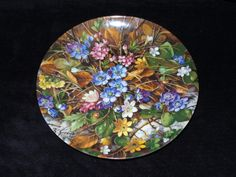"""1990 Furstenberg Wild Beauties """"In the Undergrowth"""" Collector Plate by Hans Grab by ThePlateHutchII on Etsy"""