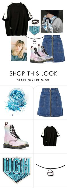 """Untitled #381"" by youngarmy ❤ liked on Polyvore featuring In Your Dreams, Topshop, Dr. Martens, WithChic, Anya Hindmarch and Bari Lynn"