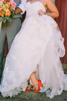 Zapatos de color teja para novia