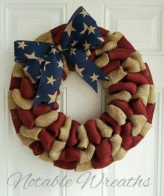 Patriotic wreath, wreaths for front door year round, rustic wreath, summer burlap wreath, fla… – Wreath Burlap Wreath Tutorial, Diy Wreath, Wreath Ideas, Tulle Wreath, Wreath Making, Diy Spring Wreath Burlap, Snowman Wreath, Patriotic Wreath, 4th Of July Wreath