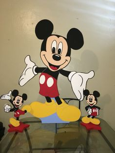 Mickey Mouse foam characters