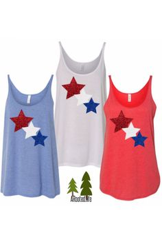 This is the perfect tank to wear to that Independence Day barbecue. Choose from other colors and styles.