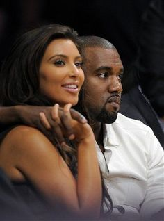 AMG: Kim Kardashian and Kanye West Have A Date Night at L.A. Lakers vs Denver Nuggets Game