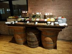 Barrel cheese board Catering: The Entertaining Company Venue: Skyline Loft