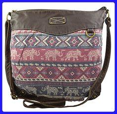 2046df2444e1 Women s   Girls Handbag Aztec Elephant Print (Wine) - Crossbody bags  ( Amazon