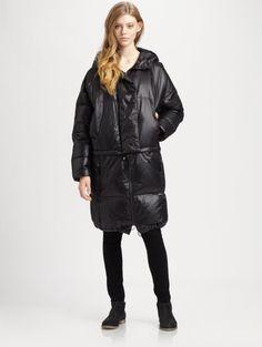 Maison Margiela Long Down Puffer Coat in Black