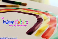 Make your own Water Colours with only two ingredients!