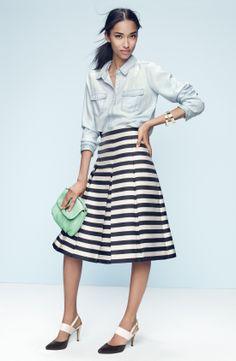 Halogen® Pleat Midi Skirt (Regular & Petite) | Nordstrom