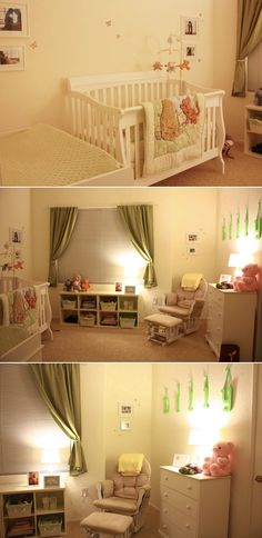 Classic Pooh nursery - Love except instead of green accents, yellow!!!
