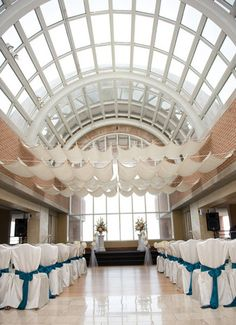 With its 35 foot glass ceiling and marble floors, the #atrium provides a breathtaking space for your ceremony and cocktail hour @thetowerclub