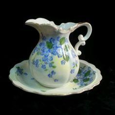 Lefton China Floral Pitcher and Bowl SL4190 Bath Set Victorian RARE Small Size   eBay