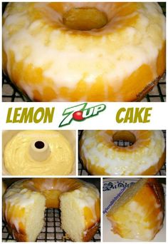 Lemon 7up cake recipe from scratch and from cake mix.
