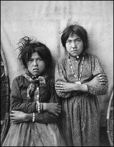 Two Tlingit girls, Tsacotna and Natsanitna. Photographed near Cooper River, Alaska 1903.