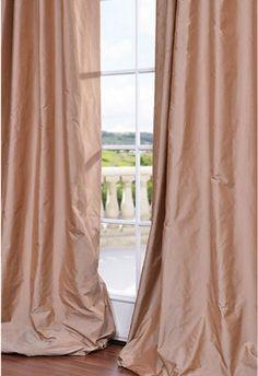 BLUSH PINK SILK curtain dupioni silk window by ZylstraArtAndDesign