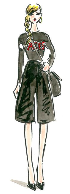 #WINNING Culottes are the femininity of a skirt with the freedom of a trouser. Hit them up with some heels and a logo sweater, then sling a bag across your torso for that 'No matter how busy I am, I look this good' confidence. http://www.cavan.com/magazine/paper-london-black-silk-culottes/