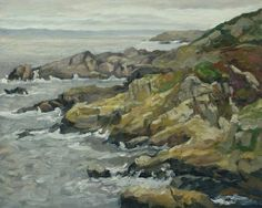 Mieke Teirlinck Cap Sizun, Bretagne, oil on canvas, 40 x 50 cm