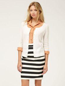 Love the striped skirt