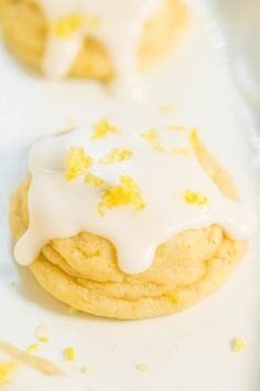 My daughter adores lemon desserts and I surprised her with these super soft cookies and very lemony cookies. The cookies are topped with a lemon glaze that adds to the pucker-up power and we couldn't
