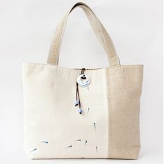 blue fish - the handcrafted/hand painted tote from Hudiefly