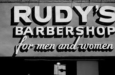 vintage hand painted barbershop sign