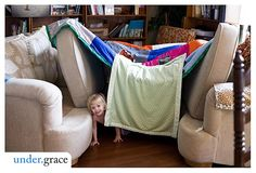 Blanket Forts, we made so many forts like this using tables and chairs and what ever we could pull together.