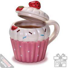 Cupcake Mug - Retro Baking Coffee Mug. Girly gift. Kitchen. Chic. Novelty Bake